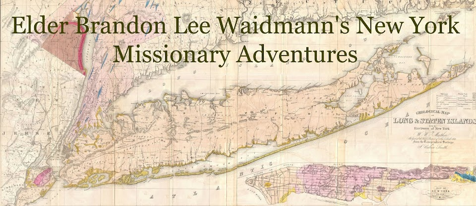 Elder Brandon Waidmann's New York Missionary Adventures
