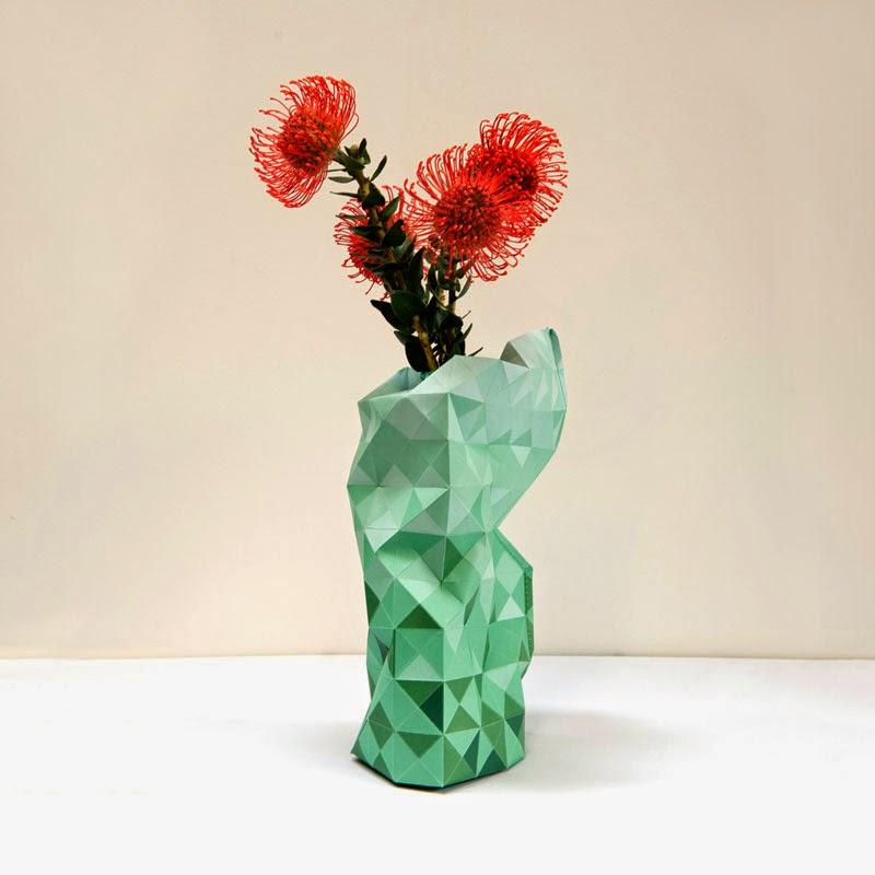Jarrón Paper Vase Cover de Pepe Heykoop