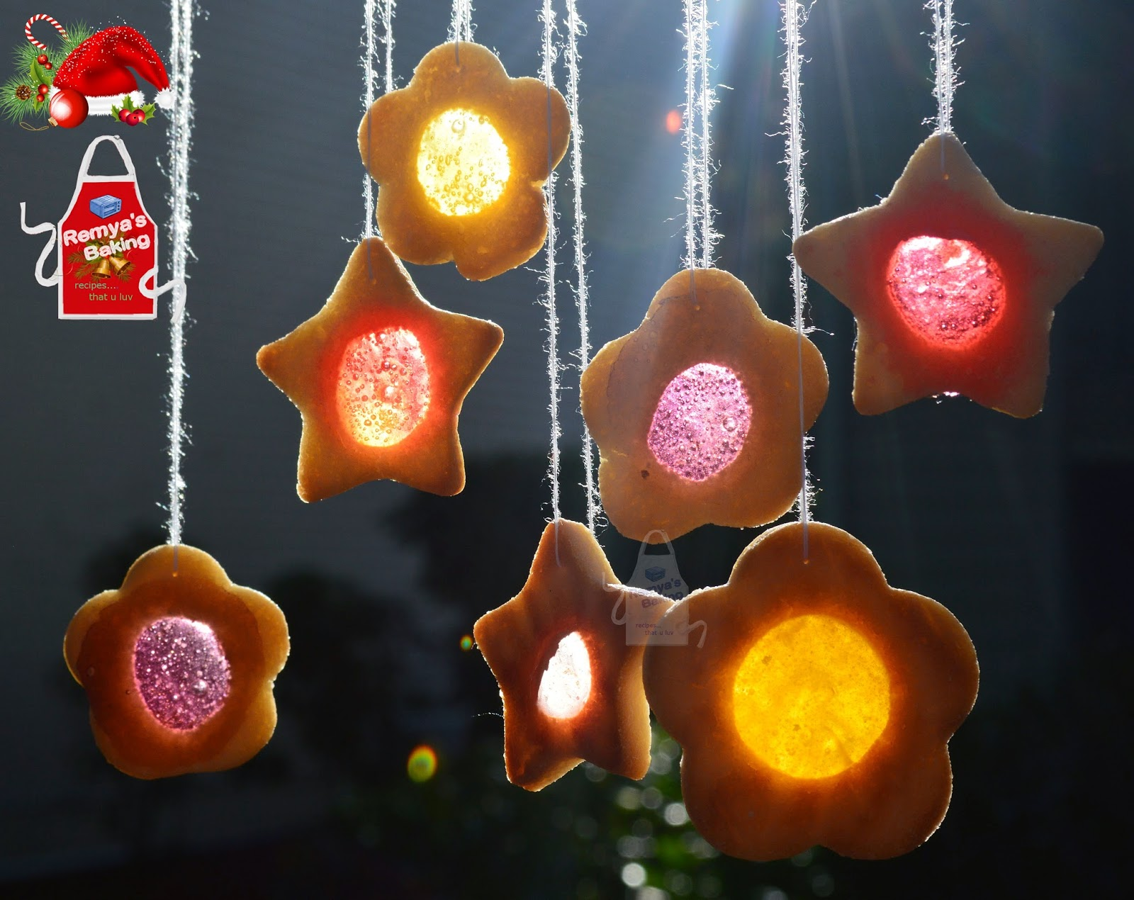 Stained glass almond cookies for Stained glass cookie recipe