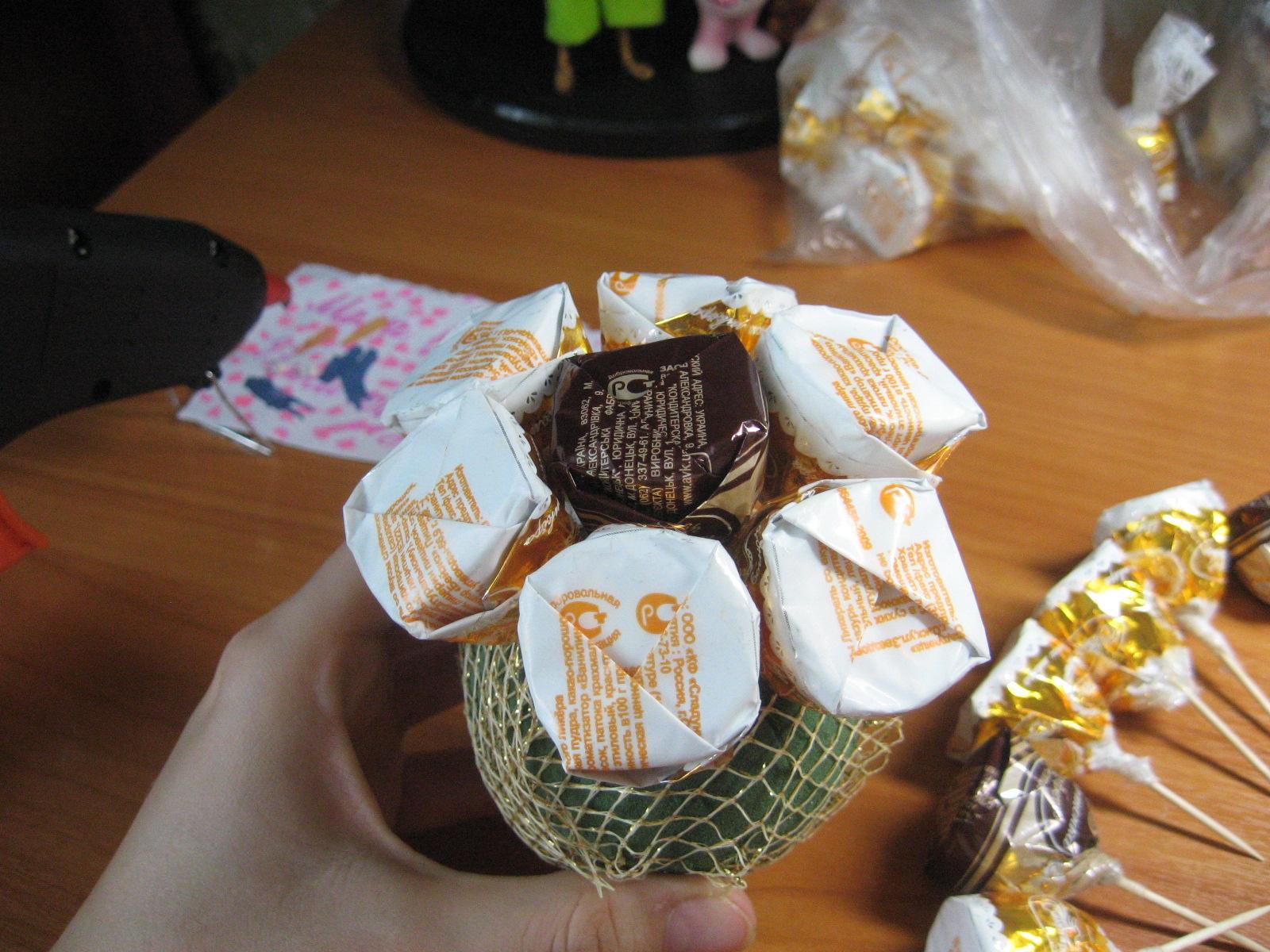 Какой подарок можно сделать из конфетах 190