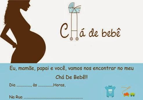 Convites para chá de bebê de menino