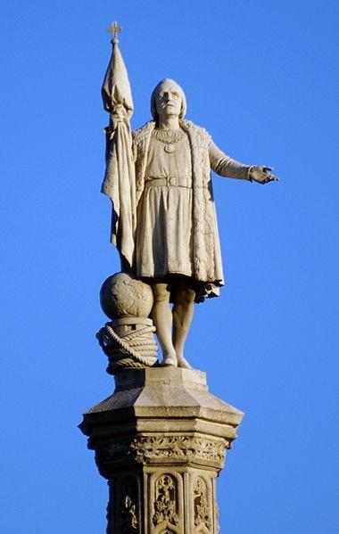 Monumento a Colón en Madrid.