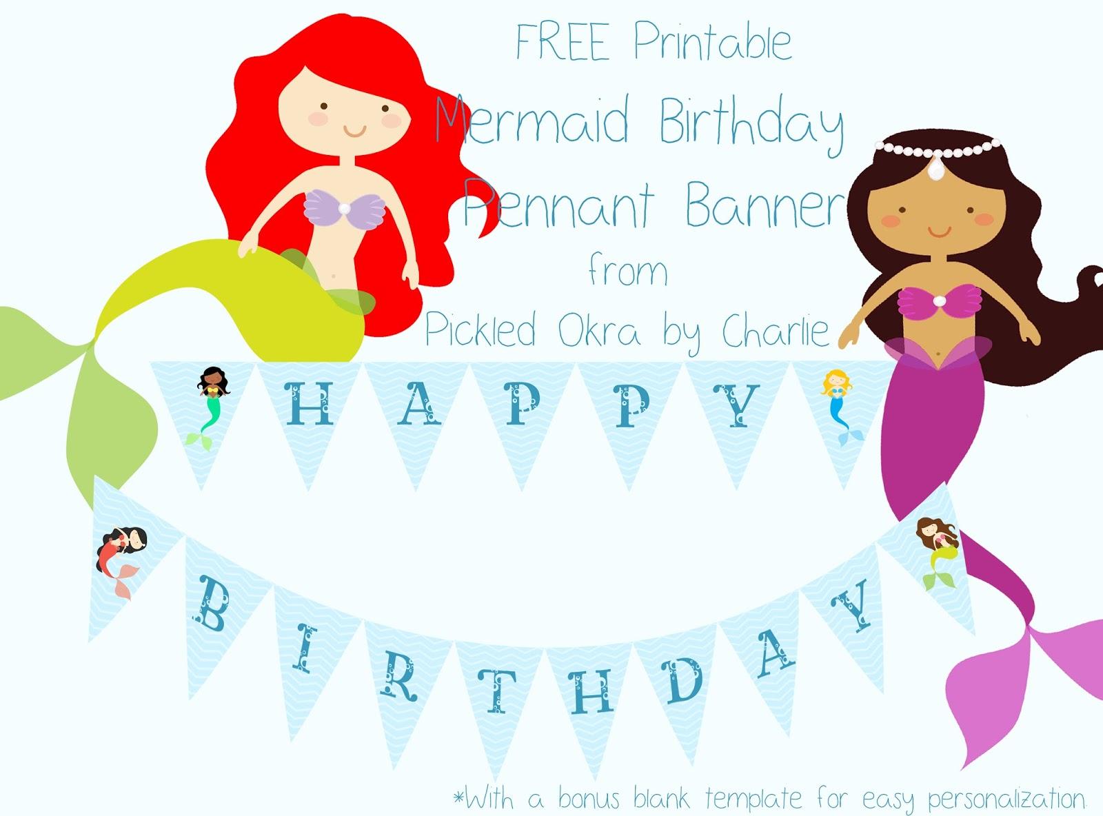 Mermaid Party Decoration Printables Free