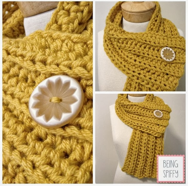 Free Crochet Pattern For Chunky Scarf : tangled happy: Chunky Rib Scarf