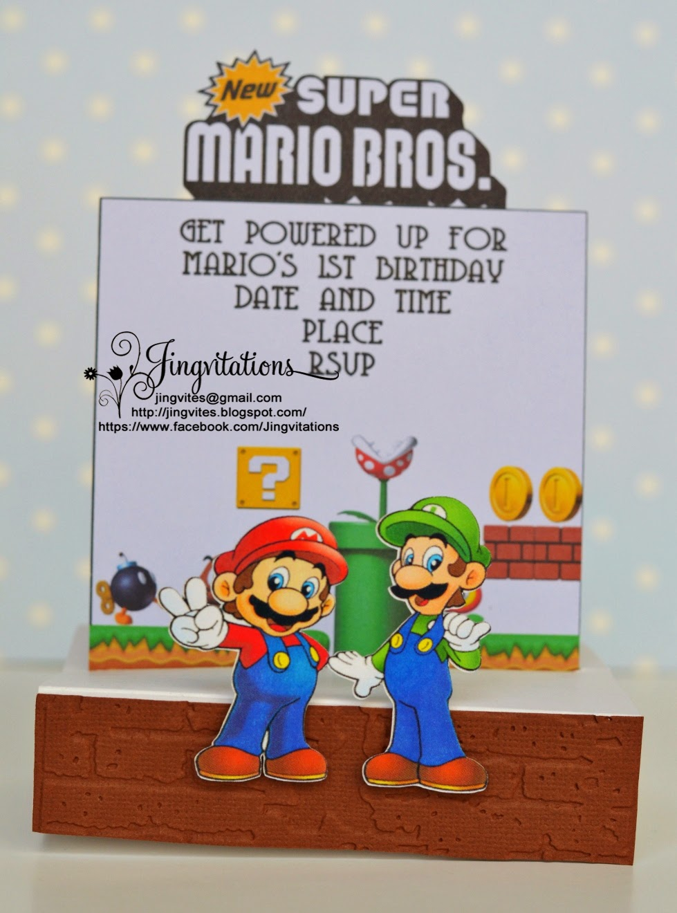Jingvitations nintendo super mario bros and luigi birthday supermariobros marioandluigi birthdayinvitations invitaciones convites monicamarmolfo Gallery