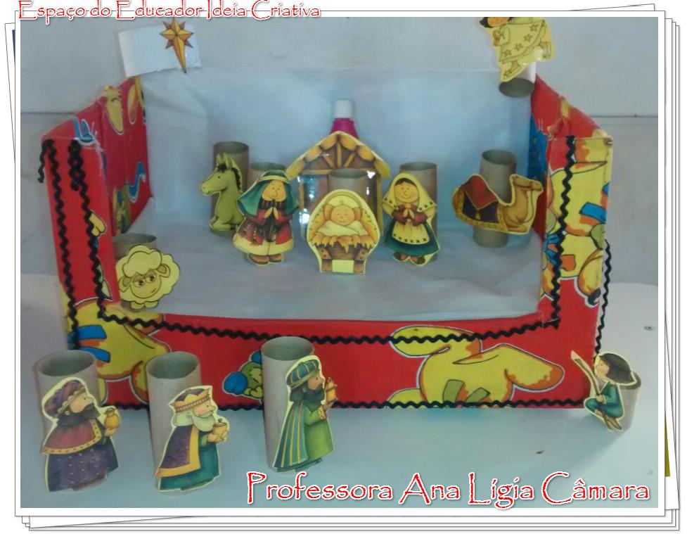 Presépio Lindo com Rolos de Papel Higiênico Atividade Natal Cristão Educação Infantil