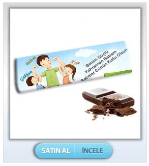 Kişiye Özel Babama Dev Çikolata