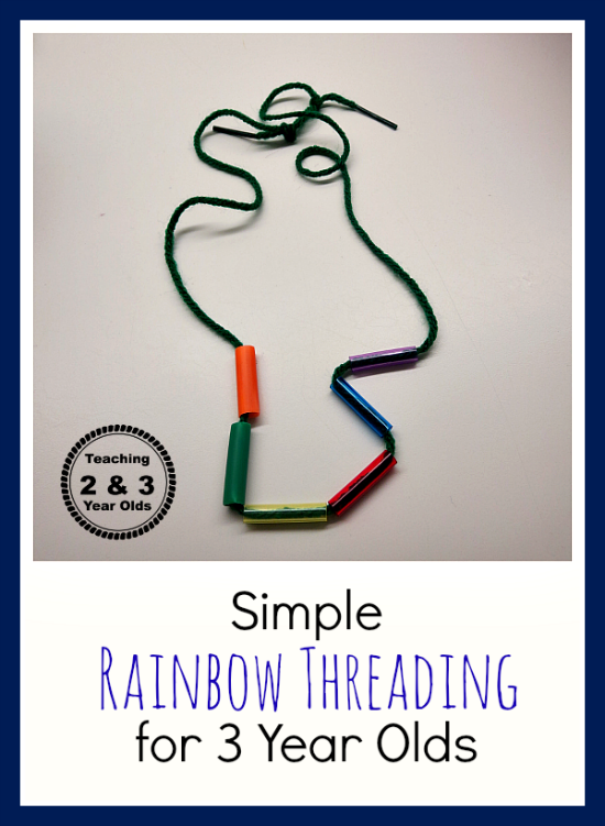 Teaching 2 and 3 Year Olds: Simple Threading for Kids