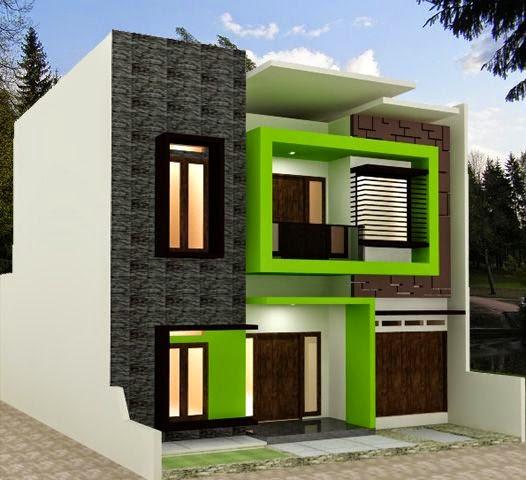 desain rumah minimalis atap cor