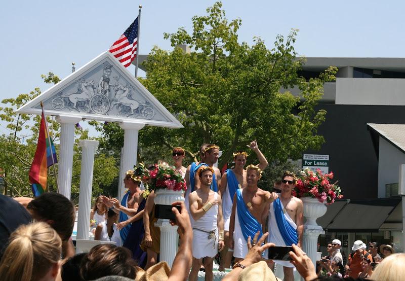 Molly Ringwald Grecian float LA.Pride 2012