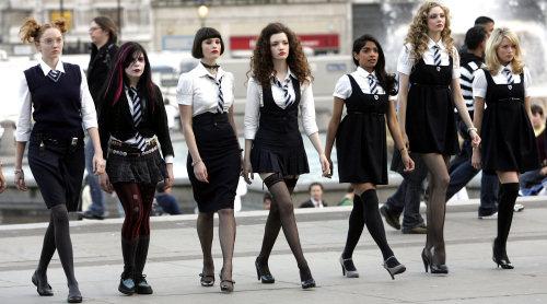 Book Cover School Uniforms ~ Trash ballerina st trinians head girl