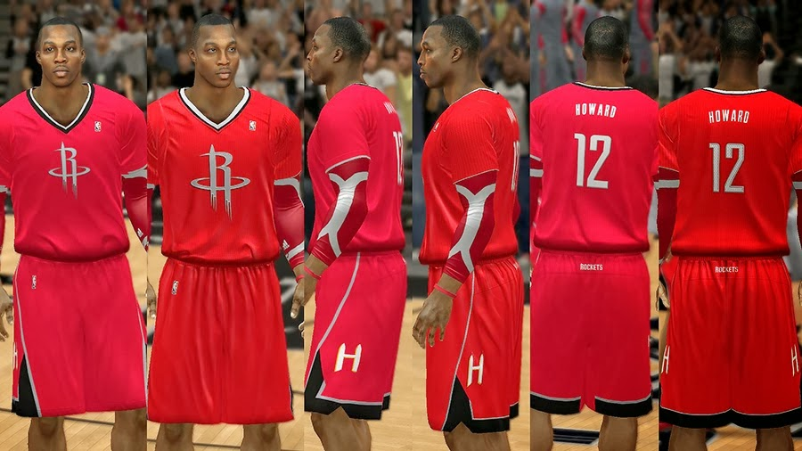 NBA 2K14 Christmas Day Uniform - Houston Rockets