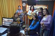 La Tuna de Señoritas tocando en vivo en la Radio de la Universidad de Chile, .