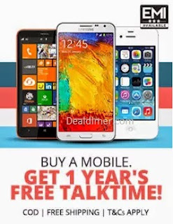 Buy a Mobile & Get 1 year's talk time free