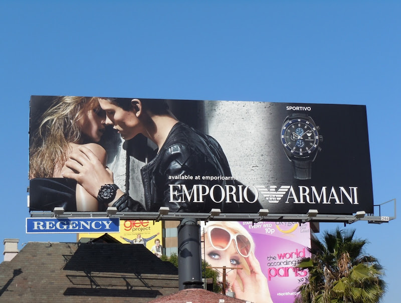 Emporio Armani Sportivo watch billboard
