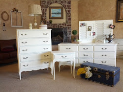 Vintage White Bedroom Set