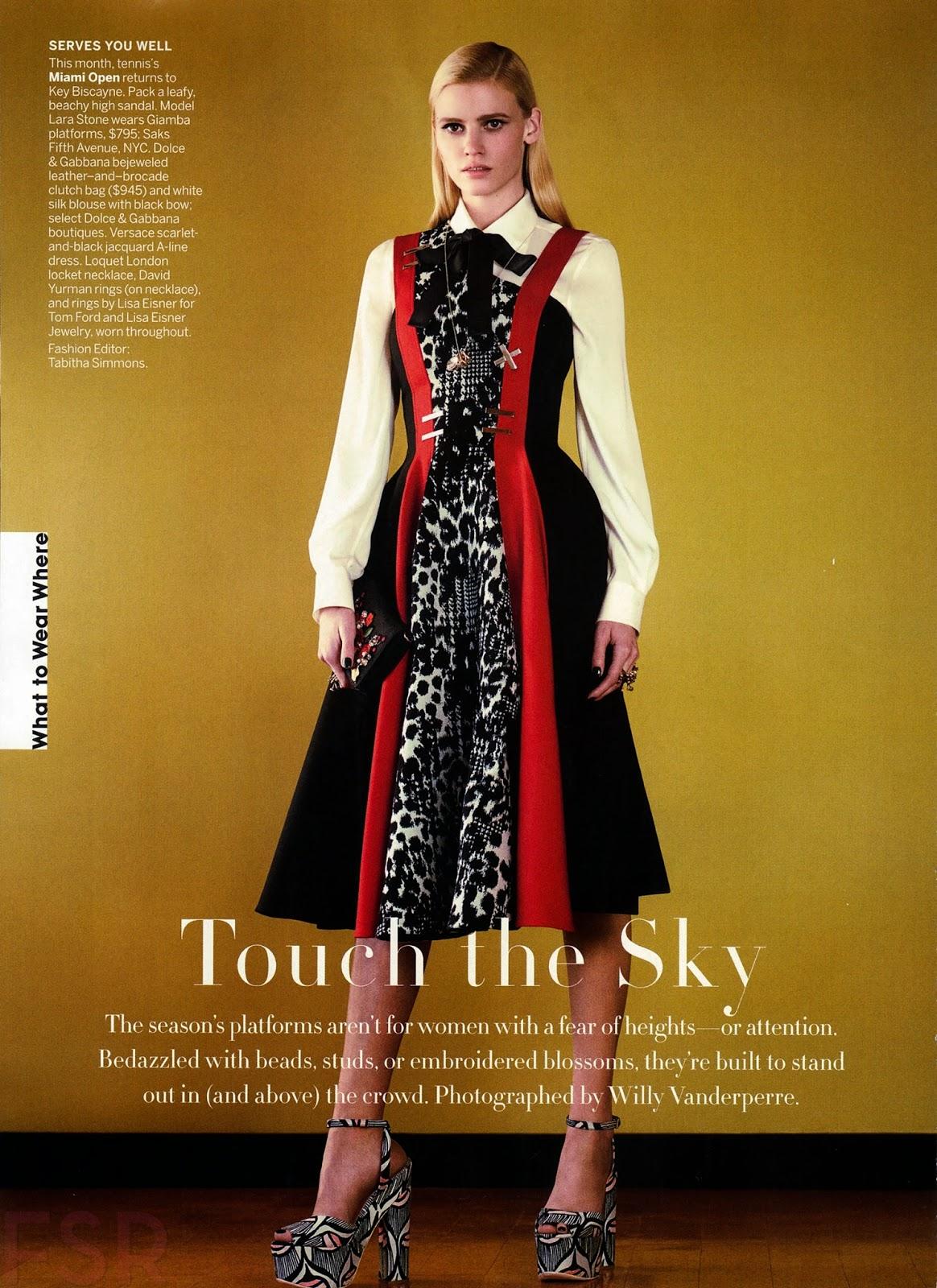 Fashion Model Lara Stone - Vogue USA