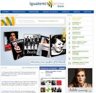 Conheça o site da Rádio Iguatemi Prime FM