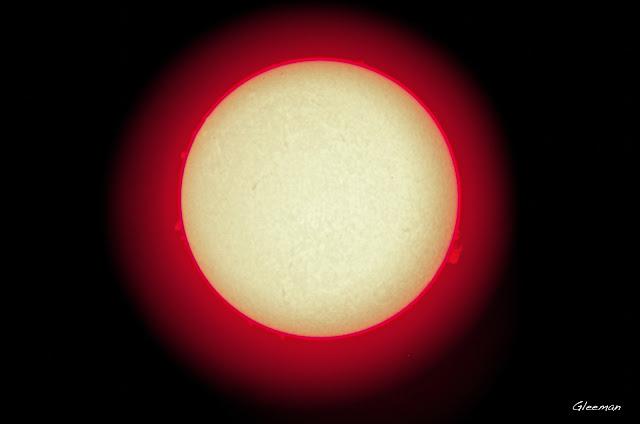 最近的太陽。 SolarmaxII 40 P75+XW20目鏡擴大。