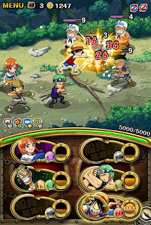 Screenshots of the One piece: Treasure cruise for Android tablet, phone.