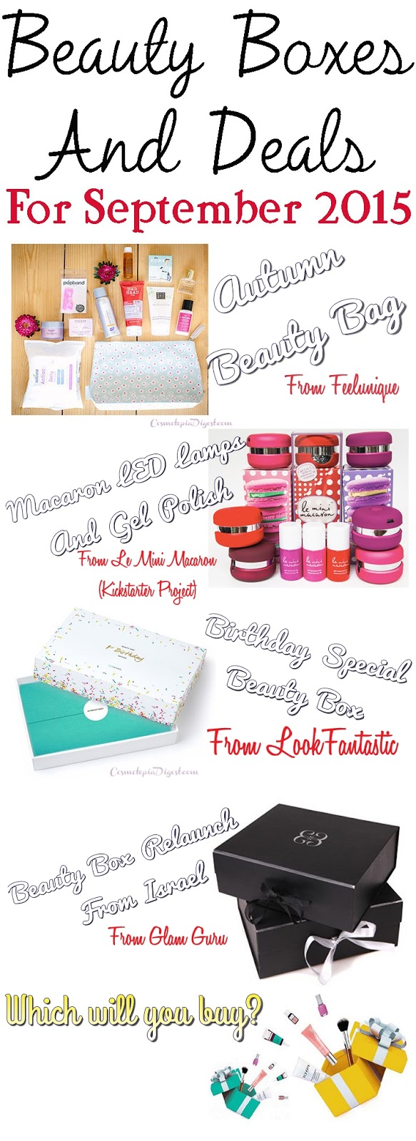 Special Beauty Boxes and Offers For September 2015