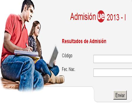 Resultados exámen admision ESAN 2013 1