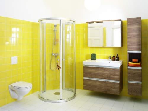Salle de bain jaune et blanc ~ Solutions pour la décoration ...