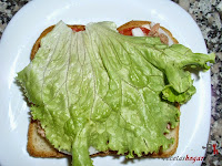 Sándwich especial de atún con lechuga