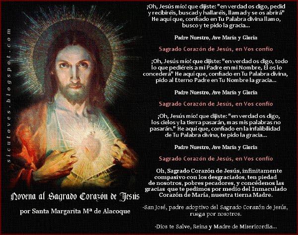 MILAGROSA NOVENA AL SAGRADO CORAZÓN DE JESÚS
