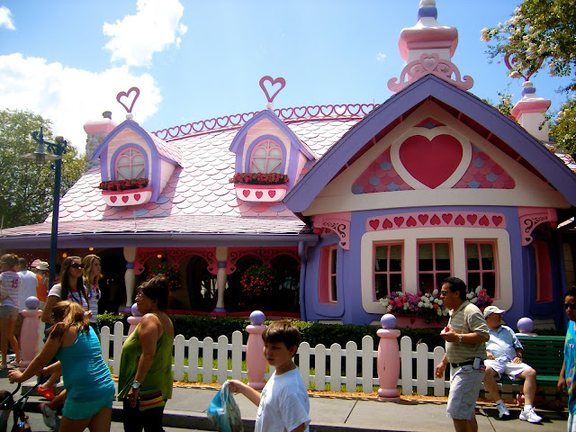 Minnie Mouse's house in Toontown - Magic Kingdom, Disney World, Florida