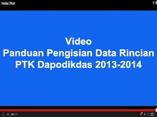PANDUAN PENGISIAN DATA RINCIAN PTK DAPODIKDAS 2013