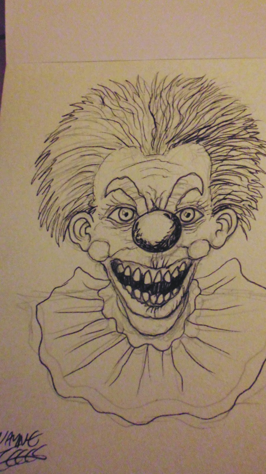 killer klown drawings