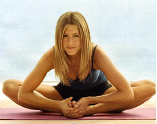 Jennifer Aniston Doing Yoga