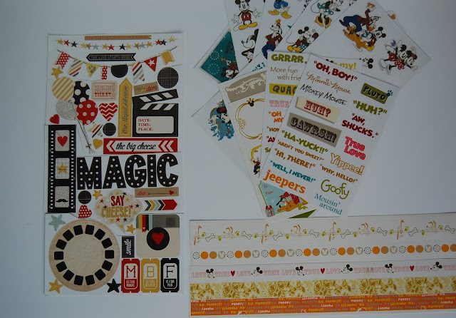 Stickers Disney DIY Scrapbook Kit Say Cheese Mickey Mouse Disney World Happiest Place on Earth