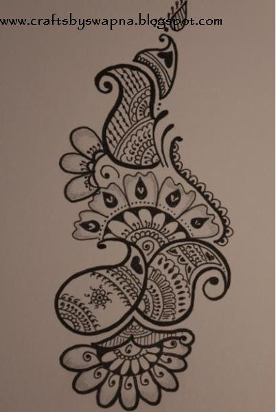 my craft ideas mehendihenna design 2