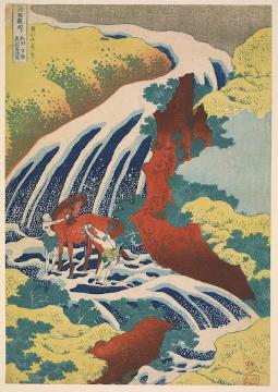 Yoshitsune Falls, from the series Famous Waterfall  Katsushika Hokusai