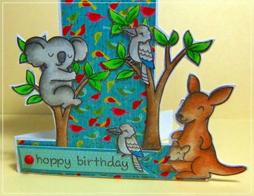 Paper Card Stamps hoppy birthday – Australian Birthday Cards Online
