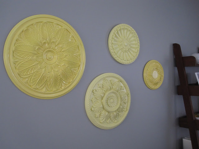 Spray Painted Wall Medallions