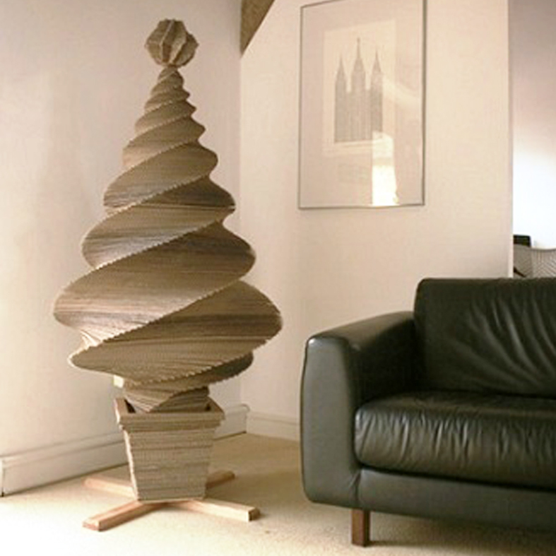 Detallelogia rboles de navidad reciclando papel - Como hacer un arbol de navidad de carton ...