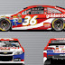 JJ Yeley runs disabled former U.S. Marine Scott Bates' (@ernhrtfan) design at Daytona