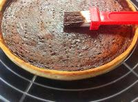 Chablonner un fond de tarte au chocolat