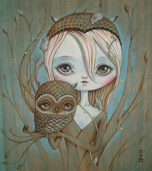 My owl barn collection girl and the owl - Chouette rigolote ...