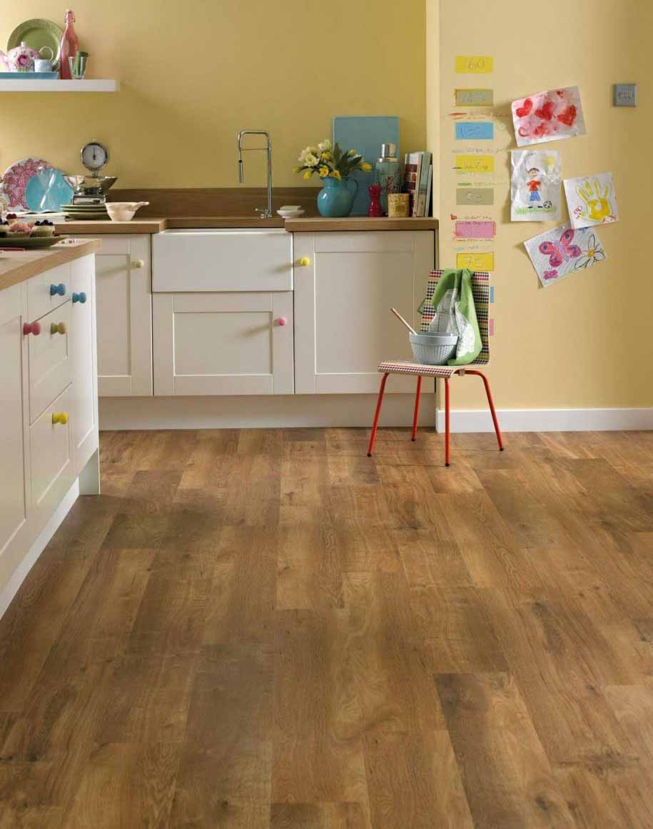 Vinyl floor kitchen kitchen flooring fine floor latest for Pemasangan kitchen set