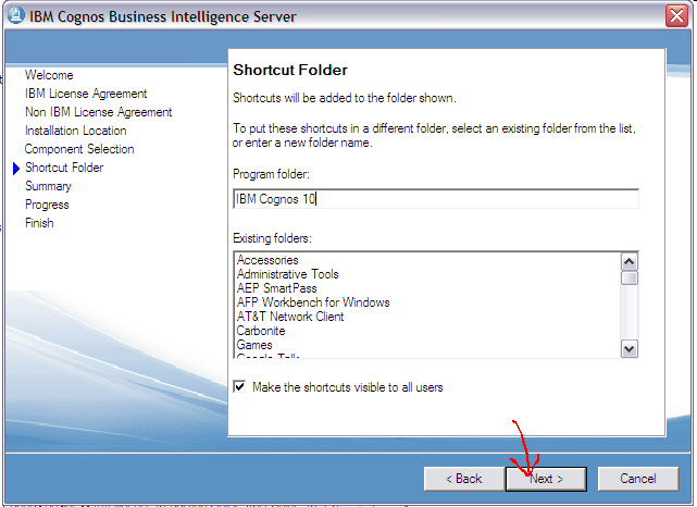 Bi framework: planning and deployment services for all cognos web application gateways and servers