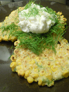 The Greek Bite: Gluten-Free Dill Corn cakes with Goat ...