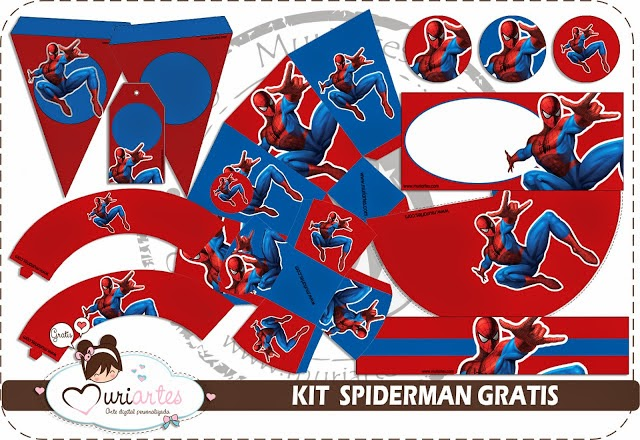 Spiderman Free Printable Kit.