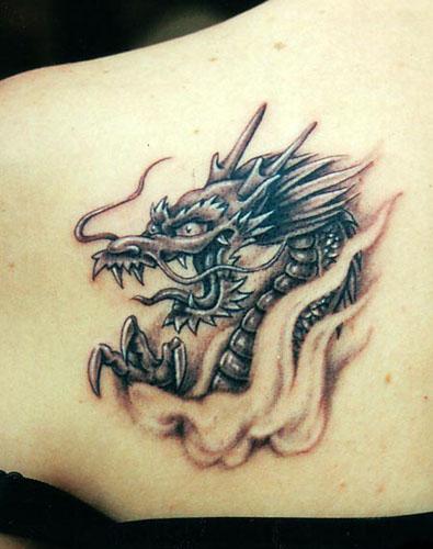 dragon tattoos for guys. cute dragon tattoos for girls.