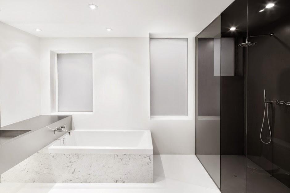 casas modernas en blanco y negro