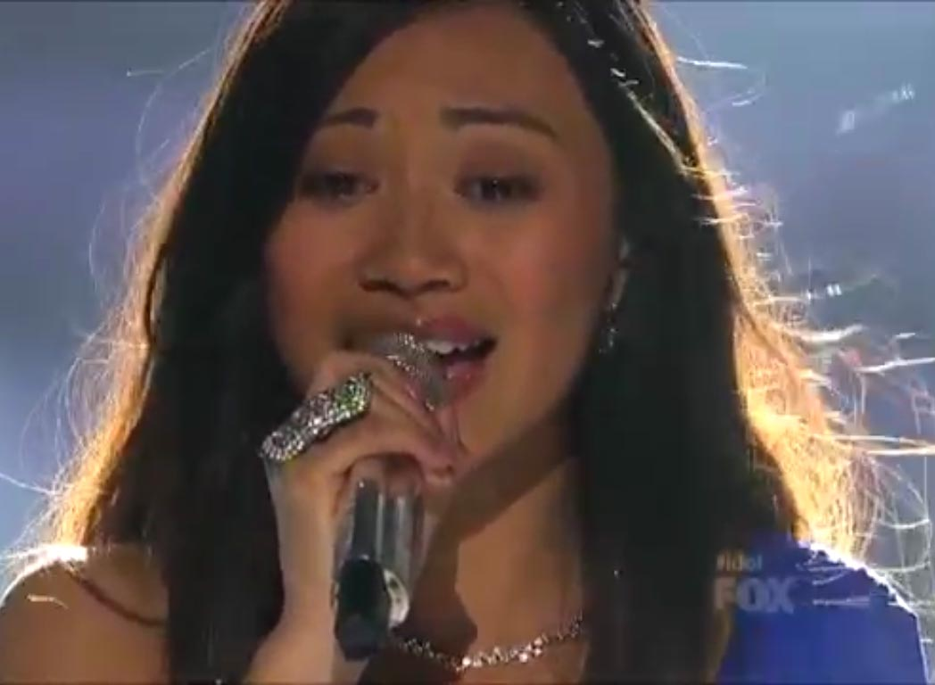 Jessica sanchez s stills from i will always love you american idol