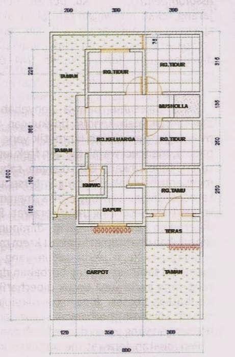 Desain Rumah Minimalis Modern Tipe 60 Ukuran Tanah 8 X 15
